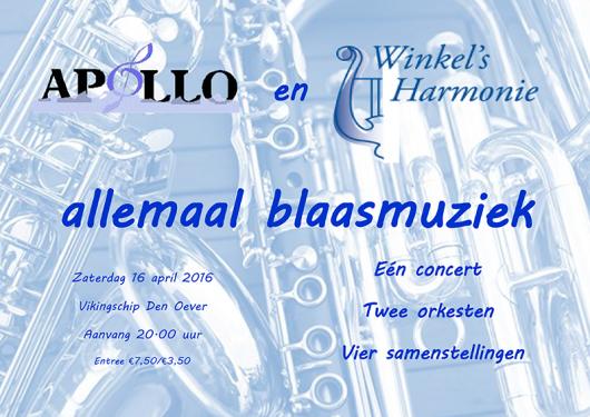 Voorjaarsconcert in samenwerking met Winkels Harmonie