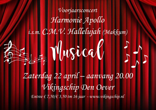 Voorjaarsconcert Harmonieorkest Apollo in samenwerking met Hallelujah uit Makkum